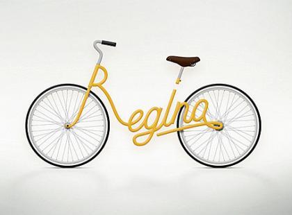 Rower z monogramem