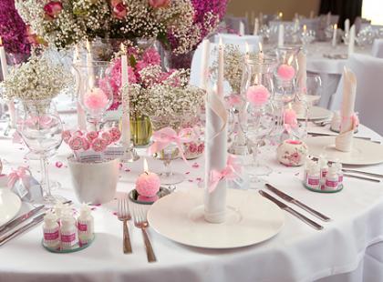 Różowe Marzenie Pełne Słodyczy - weselne dekoracje stołów