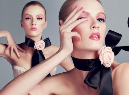 Różowy makijaż Dior na wiosnę 2013
