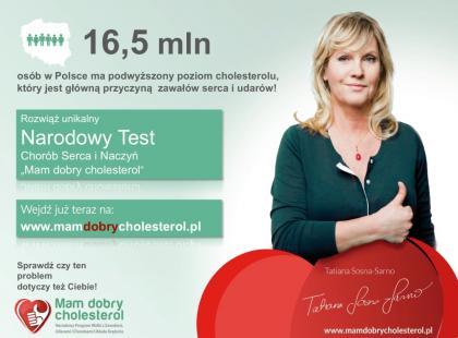 """Ruszył Narodowy Test Ryzyka Chorób Serca i Naczyń """"Mam dobry cholesterol"""""""