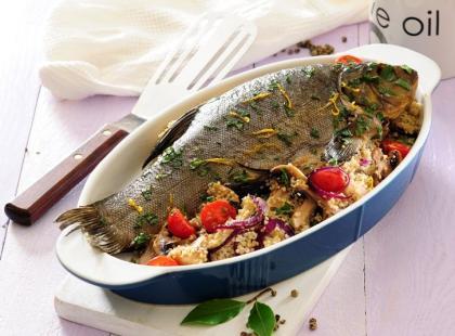 Ryba zapiekana z kaszą