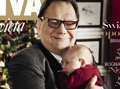 """Ryszard Kalisz z synem na okładce świątecznej """"Vivy!"""""""