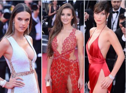 Ryzykowne kreacje na Festiwalu w Cannes, czyli moda na ZUPEŁNY brak bielizny