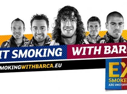 """Rzuć palenie z Barçą – """"wykop"""" nałóg"""