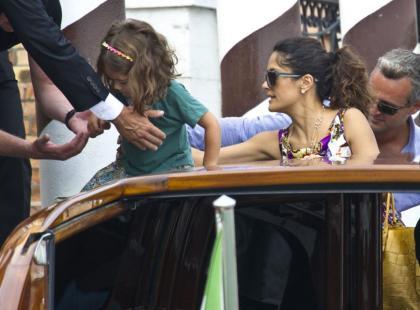 Salma Hayek z córką w Wenecji