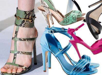 Seksowne sandały damskie na obcasie na lato 2013