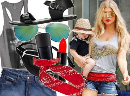 Seksowny look w rockowym stylu od Fergie