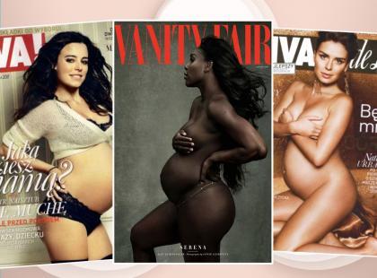 Serena Williams nie była pierwsza. Polskie i zagraniczne gwiazdy, które pokazały się w ciąży na okładkach pism