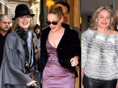 Sharon Stone - Modna w Paryżu