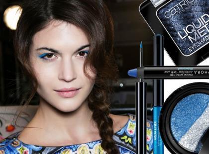 Shopping: niebieskie cienie, eyelinery i kredki