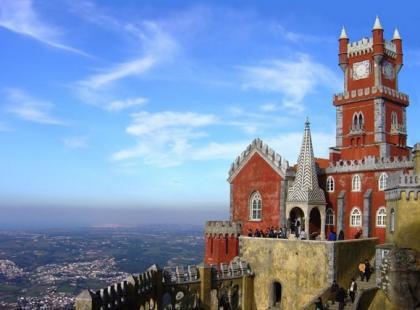 Sięgający chmur pałac da Pena