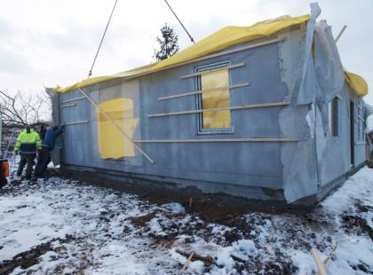 Skandynawska metoda budowy domu zimą