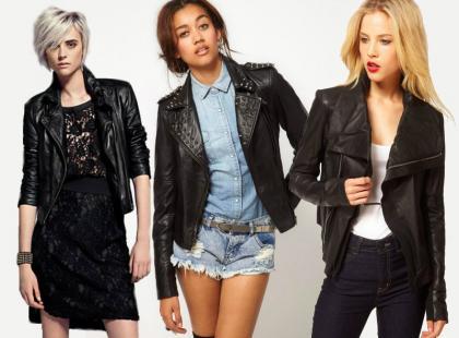 Skórzany look - trendy 2012/13
