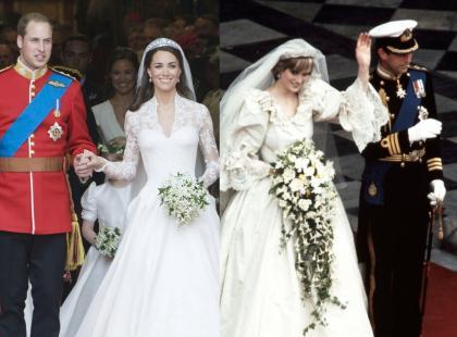 Skromna suknia Meghan, Kate zadała szyku, ale to kreacja Elżbiety II kryje za sobą piękną historię! Oto królewskie suknie ślubne