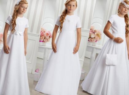 Skromne sukienki komunijne