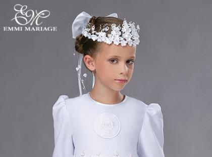 Skromne sukienki komunijne Emmi Mariage