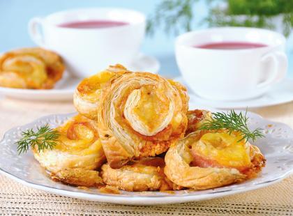 Ślimaczki z serem żółtym