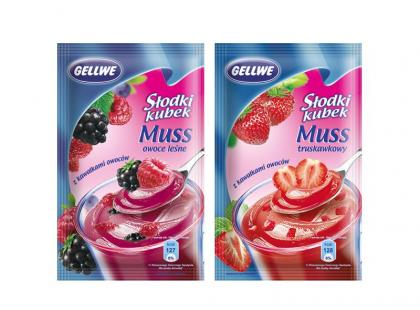 Słodki kubek Gellwe - nowe musy smaku truskawek i owoców leśnych