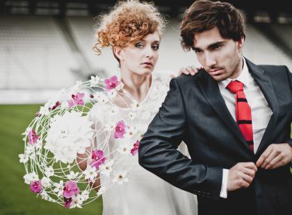 Ślub na stadionie - ślub dla kibiców piłki nożnej (foto!)