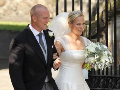 Ślub Zary Phillips i Mike'a Tindala