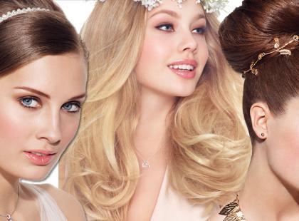 Ślubne fryzury i ozdoby do włosów