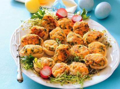 Smażone jajka faszerowane