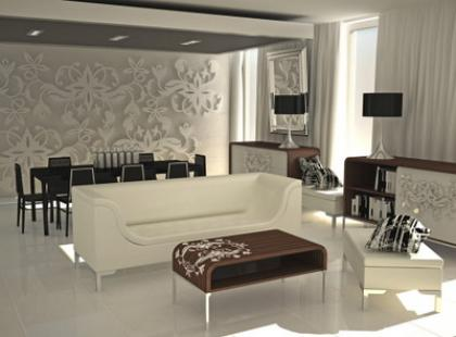 Sofa NICEA - współczesna interpretacja Art Deco