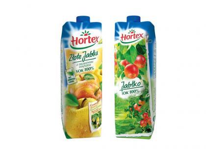 Sok jabłkowy Hortex i Hortex Złote Jabłka w nowej odsłonie