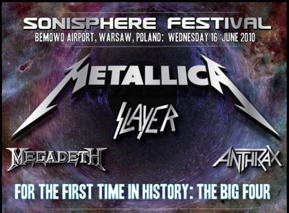 Sonisphere Festival 16 czerwca w Warszawie
