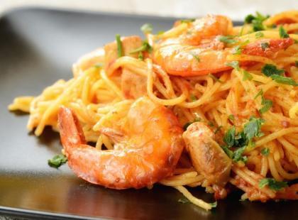 Spaghetti z krewetkami – sylwestrowy przepis!