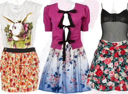 Spódnica i bluzka - komplety na lato 2010