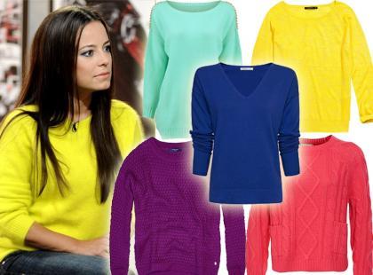 Sposób na jesienną chandrę - kolorowe sweterki już od 50zł