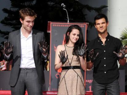 Stewart, Pattinson i Lautner odcisnęli dłonie i stopy