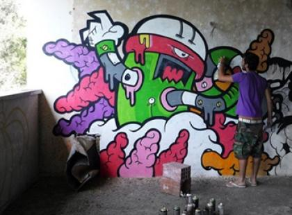 Streetartowiec Diogo Machado dla Croppa