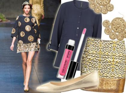 Styl jak z pokazu: granat i złoto jak od Dolce&Gabbana