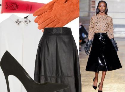Styl jak z pokazu: skórzana spódnica w eleganckim wydaniu