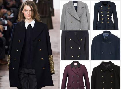 Styl marynarski hitem jesieni i zimy: 16 modeli boskich płaszczy