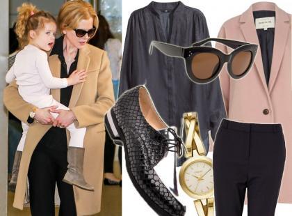 Stylowa mama: 47-letnia Nicole Kidman w modnym płaszczu