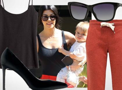 Stylowa mama, czyli jak bosko łączy style Kourtney Kardashian