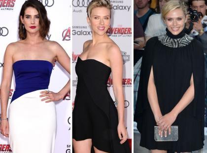 """Stylowe aktorki promują swój najnowszy film """"Avengers: Czas Ultrona"""""""
