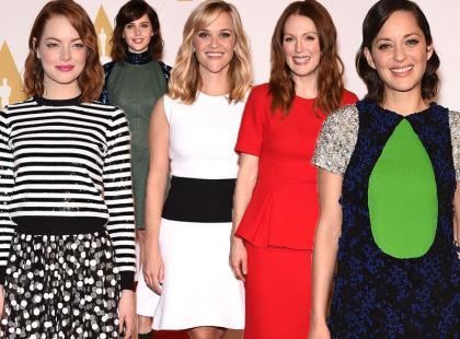 Stylowe gwiazdy na Oscar Nominees Luncheon w Beverly Hills