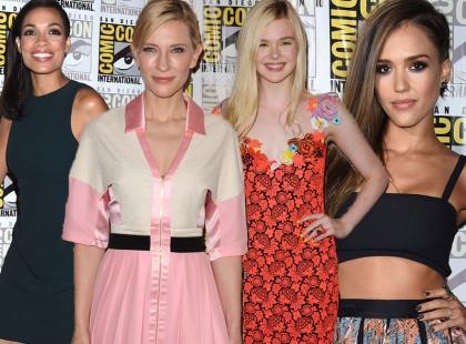 Stylowe Hollywood: Dawson, Blanchett, Fanning i Alba podczas Comic-Con