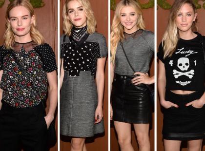 Stylowe modelki i aktorki na imprezie modowej marki Coach