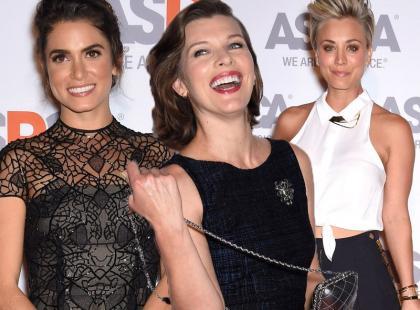 Stylowe Reed, Cuoco i Jovovich w ciąży na imprezie charytatywnej