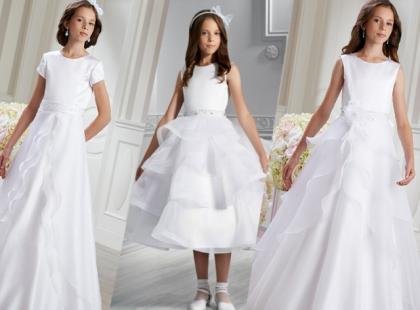 Sukienki komunijne z falbankami