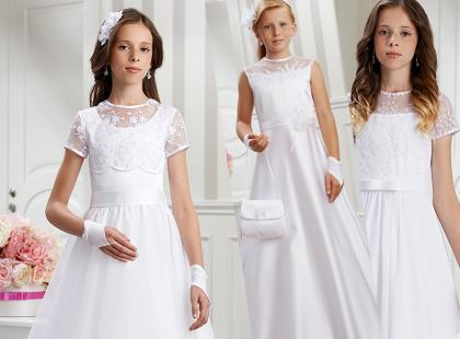 Sukienki komunijne z koronką