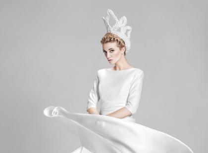 Sukienki ślubne 2014 w zimowej sesji