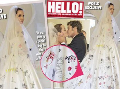 Suknię ślubną Angeliny Jolie zaprojektowały jej dzieci i...?