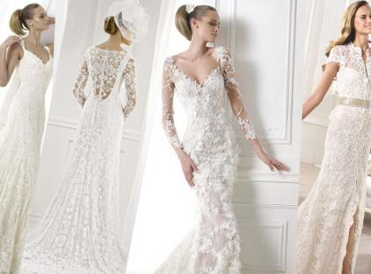 Suknie ślubne 2015 całe z koronki