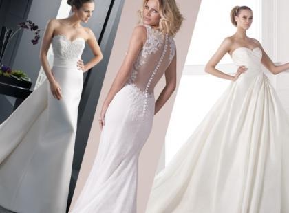 Suknie ślubne 2015 z długim trenem